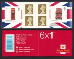 Great Britain Telephone Kiosk Bus Design Classics Booklet MNH SG#PM16 - 1952-.... (Elisabeth II.)