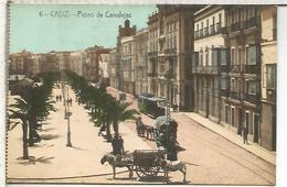 CADIZ PASEO CANALEJAS TRANVIA TRAMWAY TRAM SIN ESCRIBIR - Cádiz
