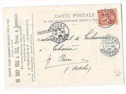 ANNONAY (07) Carte Commerciale Publicitaire DU SERT Père Et Fils 1905 - Annonay