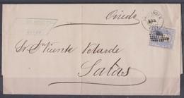 Lettre Espagne. Santander 1875. - 1873 1ère République