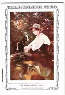 Superbe Carnet Calendrier 1920 Du Grand Bazar De Lyon Illustration Leroy Les 2 Amis Salon De Paris 1919 - Calendriers