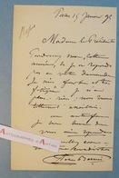 L.A.S 1899 Félix-Joseph BARRIAS - Peintre & Illustrateur - Lettre Autographe Paris LAS - Autographes