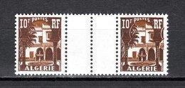 ALGERIE N° 313A PAIRE AVEC PONT  NEUF SANS CHARNIERE COTE  ? €  MUSEE DU BARDO - Unused Stamps