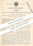 Original Patent - B. Baltzer & Sohn , Berlin , 1882 , Spülung Für Kloset , WC , Toilette | Klempner !!! - Historische Dokumente