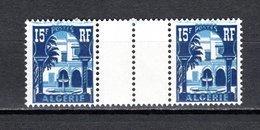 ALGERIE N° 314 PAIRE AVEC PONT  NEUF SANS CHARNIERE COTE  ? €  MUSEE DU BARDO - Algérie (1924-1962)