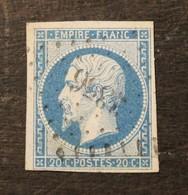 NAPOLEON N° 14 Type I   20  C   BLEU   Cachet 3356 THOMERY - 1853-1860 Napoléon III
