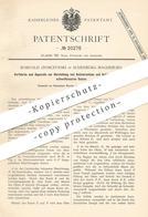 Original Patent - Romuald Ziomczynski , Magdeburg / Sudenburg , 1882 , Herst. Von Ätzstrontium Und Ätzbaryum | Chemie !! - Historische Dokumente