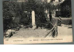 Cpa 38 Vienne Entrée Du Jardin Public Et Voie Romaine L'isère Pittoresque  Déstockage à Saisir - Vienne