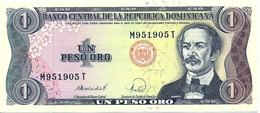 BANCONOTA DA 1 PESO  ORO -  Repubblica  Dominicana  -  Emissione Anno  1988 - Repubblica Dominicana