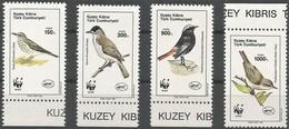 1990 Cyprus (Turkish Post) WWF Birds Set (** / MNH / UMM) - W.W.F.