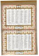 ALMANACH -CALENDRIER  Chromo  SEMESTRIEL  DE 1969  Second Emprire Napoléon III   Fév 2019  FEVR 2019 ABL 4 - Calendars
