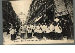 Cpa 45 Orléans Fêtes De Jeanne D'Arc 7 & 8 Mai Mgr Touchet Eveque D'Orléans Déstockage à Saisir - Orleans