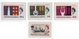 1966/67 - TRISTAN DA CUNHA - Mi.  Nr. 101/103+108 - NH - (UP131.1) - Tristan Da Cunha