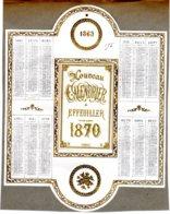ALMANACH -CALENDRIER  Chromo Nouveau à Effeuiller   1970  Second Emprire Napoléon III   Fév 2019  FEVR 2019 ABL 7 - Calendriers