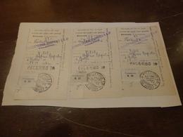 3 RICEVUTE  VERSAMENTO CON ANNULLI  29 NOVEMBRE 1944-PALERMO - Storia Postale