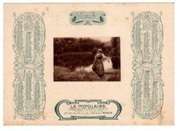 Almanach-CALENDRIER 1905   Allegorie Porteuse D'Eau-LA POPULAIRE Compagnie D'Assurance Sur La Vie   FEVR 2019 ABL 7 - Calendriers