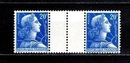 ALGERIE N° 349 PAIRE AVEC PONT  NEUF SANS CHARNIERE COTE  ? €  MARIANNE DE MULLER - Algérie (1924-1962)