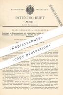 Original Patent - Fritz Lürmann , Osnabrück , 1882 , Entgasungsraum | Gas , Koksofen , Ofen , Teer , Desitllation !!! - Historische Dokumente