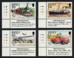 Jersey Train Ships Airplane Car 125th Anniversary Of UPU 4v Bottom Left Corners MNH SG#886-889 - Jersey