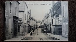 CPA SEURRE 21 COTE D OR LA RUE DU PONT ED COULOT GIRARDIN - France