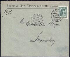 Lettre: Usine à Gaz Esch=sur=Alzette 15.12.1923, Michel: 128 - Luxembourg