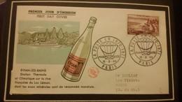 1°  Jour.d'émission..FDC ..1959 .. EVIAN  LES  BAINS - Joint Issues