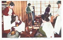 POSTAL   JAPON  - LADLES-DRESSER - Japón