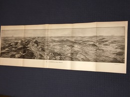 DEPLIANT PANORAMIQUE PLANCE PANORAMA GUERRE 1914 PAR G. MALFROY LA LORRAINE DE LIMEY A BIONCOURT PONT A MOUSSON NOMENY - Cartes Topographiques
