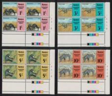 Kenya Endangered Animals 4v Blocks Of 4 Traffic Lights MNH SG#365-368 SC#355-358 CV�70+ - Kenia (1963-...)
