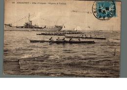 Cpa 33 Arcachon Côte D'argent Régates à L'aviron Déstockage à Saisir - Arcachon