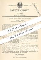 Original Patent - August Rincklake , Braunschweig , 1881 , Fenster | Fensterbauer , Tischler , Fensterflügel , Tür !!! - Historische Dokumente