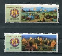 MYANMAR BIRMA BURMA 2004 Mi # 355 - 356 World Buddhist Summit MNH - Myanmar (Burma 1948-...)