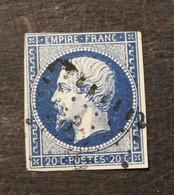 NAPOLEON N° 14 Type I  20 C  BLEU - 1853-1860 Napoléon III
