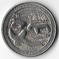 USA 2017D 25c Effigy Mounds [C299/1D] - 2010-...: National Parks
