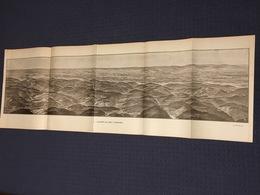 DEPLIANT PANORAMIQUE PLANCE PANORAMA GUERRE 1914 PAR G. MALFROY L'ALSACE DE CELLES A GUEBWILLER MOYENMOUTIER COLMAR - Cartes Topographiques