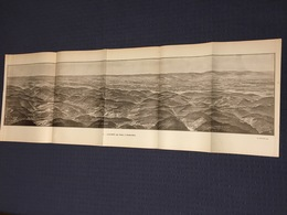 DEPLIANT PANORAMIQUE PLANCE PANORAMA GUERRE 1914 PAR G. MALFROY L'ALSACE DE CELLES A GUEBWILLER MOYENMOUTIER COLMAR - Carte Topografiche