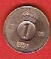 SWEDEN  #  1 ØRE FROM 1967 - Suède