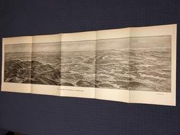 DEPLIANT PANORAMIQUE PLANCE PANORAMA GUERRE 1914 PAR G. MALFROY L'ALSACE DE GUEBWILLER A LA FRONTIERE SUISSE BELFORT - Cartes Topographiques