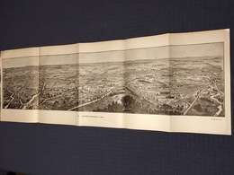 DEPLIANT PANORAMIQUE PLANCE PANORAMA GUERRE 1914 PAR G. MALFROY L'ARTOIS D'ARMENTIERES A ARRAS LENS LA BASSEE - Cartes Topographiques