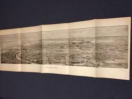 DEPLIANT PANORAMIQUE PLANCE PANORAMA GUERRE 1914 PAR G. MALFROY L'YSER DE NIEUPORT A DIXMUDE - Cartes Topographiques