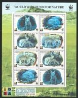 1999 Kyrgyzstan WWF Corsac Fox (hologrammed) Minisheet (** / MNH / UMM) - W.W.F.