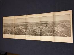 DEPLIANT PANORAMIQUE PLANCE PANORAMA GUERRE 1914 PAR G. MALFROY LA PICARDIE D'ARRAS A PERONNE HEBUTERNE COMBLES - Cartes Topographiques