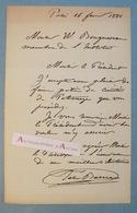L.A.S 1886 Félix-Joseph BARRIAS Peintre & Illustrateur à William BOUGUEREAU - Comité De Patronage - Lettre Autographe - Autographes