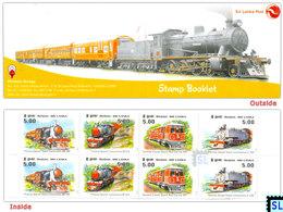 Sri Lanka Stamps 2011, Viceroy Steam Train, Trains, Locomotives, Booklet - Sri Lanka (Ceylon) (1948-...)