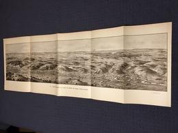 DEPLIANT PANORAMIQUE PLANCE PANORAMA GUERRE 1914 PAR G. MALFROY L'AISNE SOISSONS NOYON LASSIGNY MISSY SUR AISNE - Cartes Topographiques