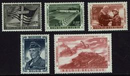 Belgie Belgium 1957 - Patton - OBP 1032-1036** Postfris - Guerre Mondiale (Seconde)