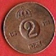SWEDEN  #  2 ØRE FROM 1953 - Suède