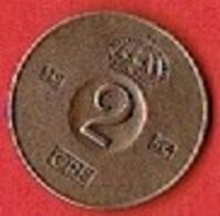 SWEDEN  #  2 ØRE FROM 1954 - Suède