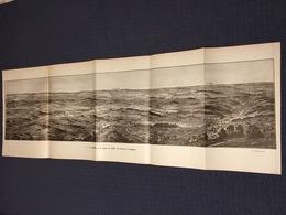 DEPLIANT PANORAMIQUE PLANCE PANORAMA GUERRE 1914 PAR G. MALFROY LA SOMME ET LA REGION DE ROYE PERONNE LASSIGNY ROYE - Cartes Topographiques