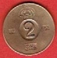 SWEDEN  #  2 ØRE FROM 1955 - Suède